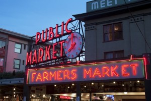 Pike Place market (photo by Seattle GPS)