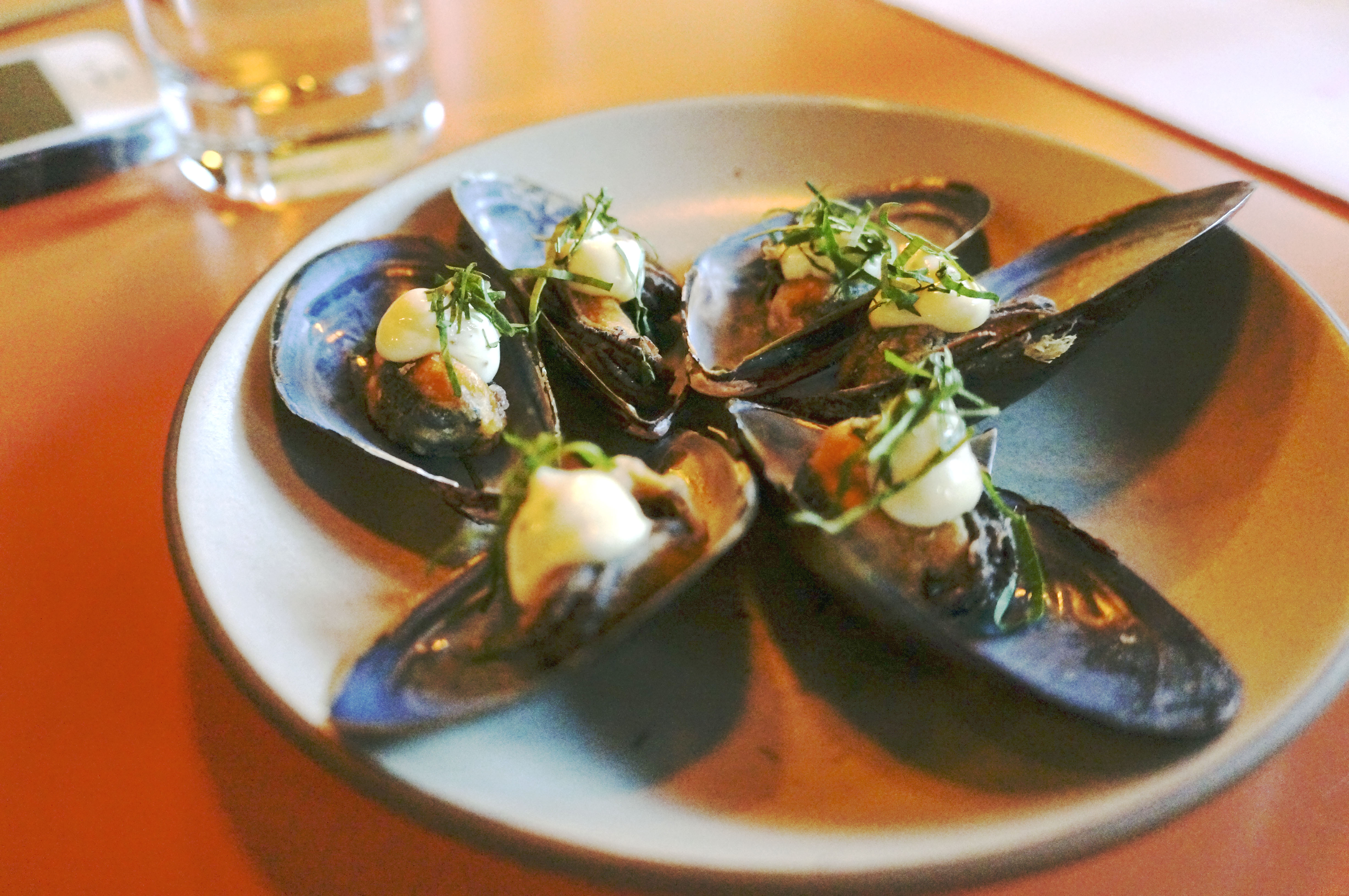 poppy fried mussel