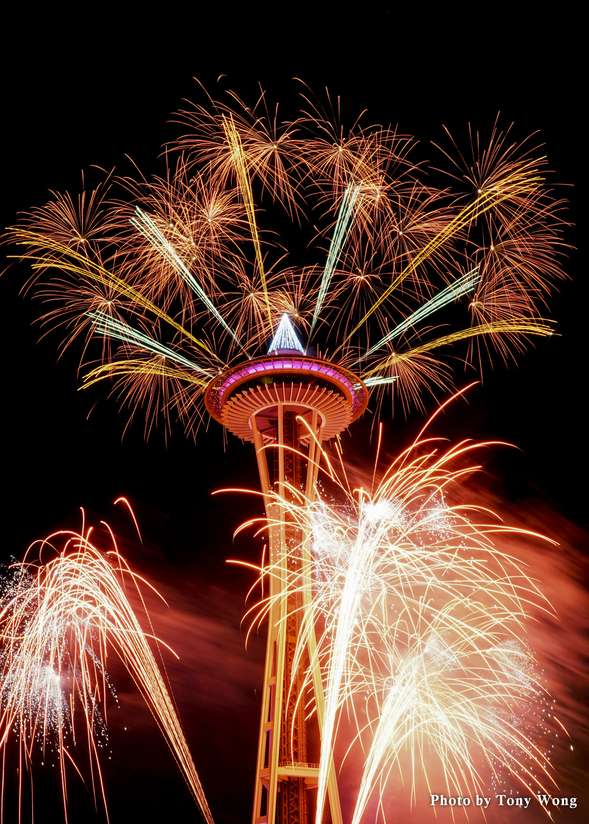 space needle firework 2015