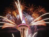 2015新年夜西雅圖太空針煙火集錦