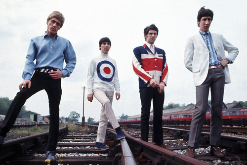 "1965, Paris, France --- British band members of ""'The Who,"" lead singer Roger Daltrey, drummer Keith Moon, bass player John Entwistle and guitarist Pete Townshend. --- Image by © Tony Frank/Sygma/Corbis"